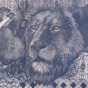 Money Animals: blue grey on natural