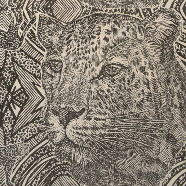 Money Leopards: charcoal on natural