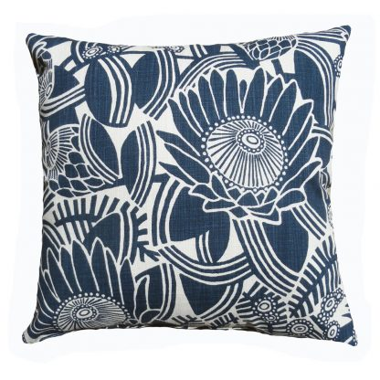 After the fire: 45cm x 45cm - navy on natural