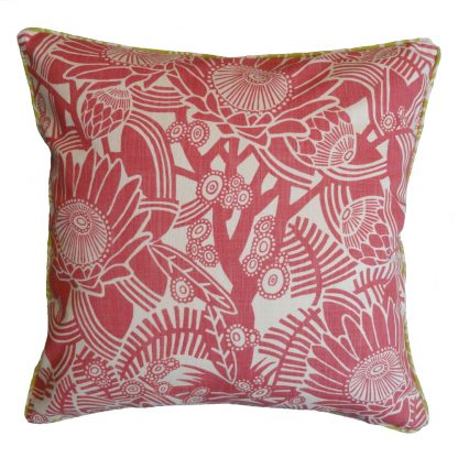 After the fire: 60cm x 60cm - pink on natural