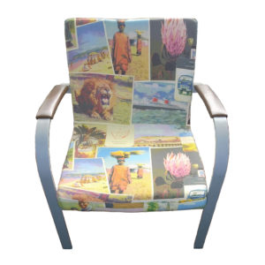 Old Postcards digital chair