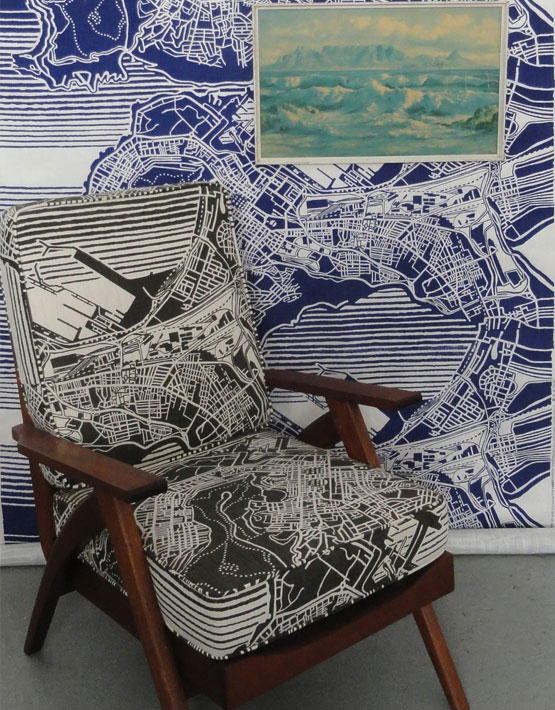 Fabricnation wallpaper and matching upholstery (Fabric Nation)