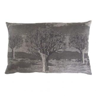 Kokerboom: 45cm x 70cm - charcoal on cotton linen