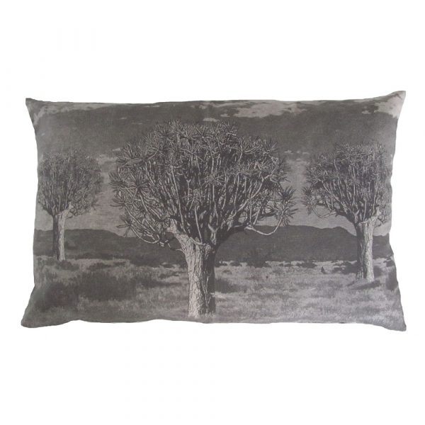 Kokerboom: 45cm x 70cm - charcoal on cotton linen