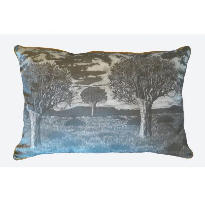 Kokerboom Emporer cushion: 90cm x 50cm - charcoal on cotton linen