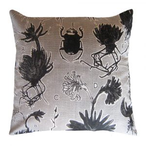 Liliaceae: 60cm x 60cm - black on natural