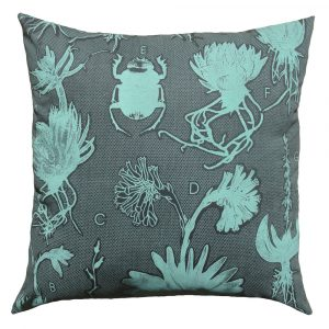 Liliaceae: 60cm x 60cm - lichen green on dark grey