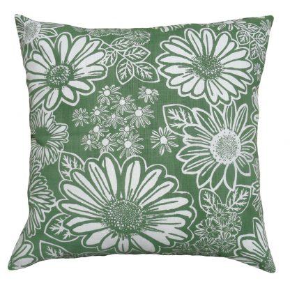 Namaqua Daisy: 60cm x 60cm - green kale on white