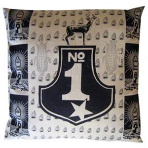 No 1: 60cm x 60cm - navy on cotton linen
