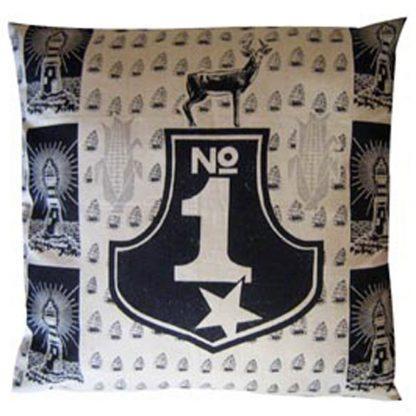 No 1: 60cm x 60cm - navy on cotton linen