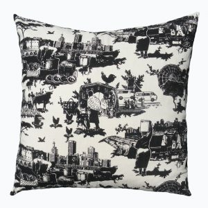 Toile du Jozi: 60cm x 60cm - black on natural