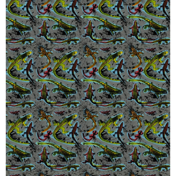 Lizards fabric layout full