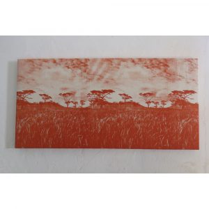 wall panel veld burnt orange on natural