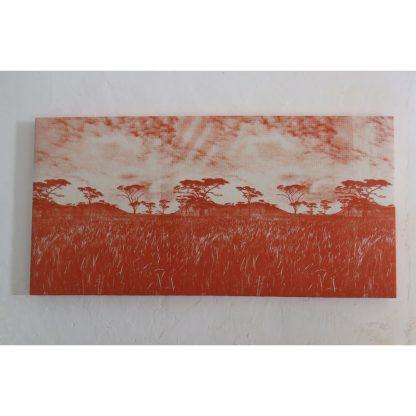 wall panel veld burnt orange on natural